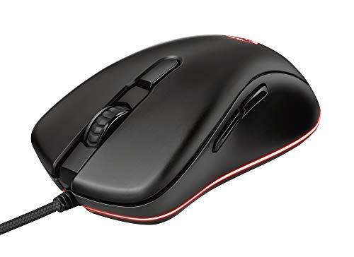 Trust Mouse Gaming GXT 930 Jacx, Illuminazione LED RGB Integrale, USB Plug & Play, con Filo, 6400 DPI, 6 Pulsanti Programmabili, Ergonomico, per PC/Computer/Mac, Nero