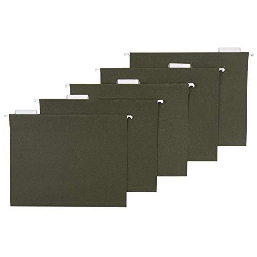Amazon Basics Hanging File Folders, Letter Size, Standard Green, 1/5-Cut Tabs, 75 per box