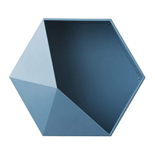 Wollaston - Mensola portaoggetti geometrica esagonale, staffa da parete Nordic per mensola galleggiante