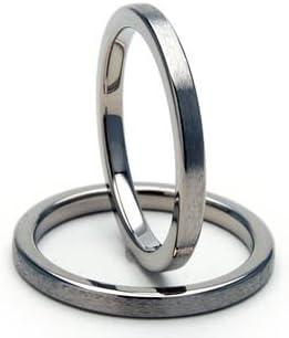 2mm Titanium Rings, Titanium Wedding Rings Wedding Bands Comfort Fit