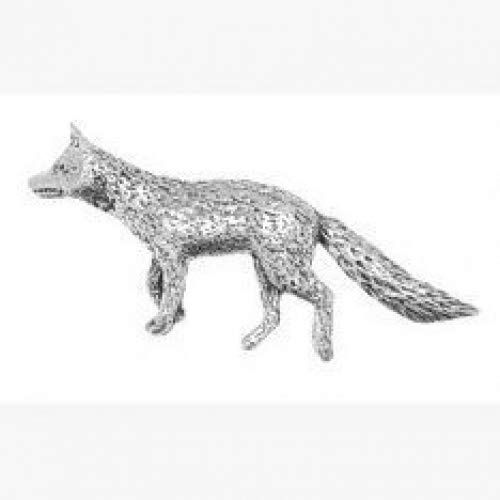 Fox Pin Badge Brooch Gift, Supplied in Organza Bag by Pewter Gifts