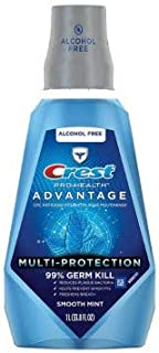 Crest Pro-Health Advantage Mouth Rinse, Smooth Mint, 33.8 Fl Oz (smooth mint, 33.8 FLOZ)