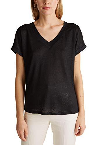 ESPRIT Collection Damen 030EO1K303 T-Shirt, 001/BLACK, XL