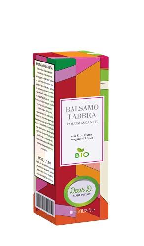 Dear D. | Balsamo Volumizzante Labbra Effetto Botox Rimpolpante 10ml Veleno D ape Bava di Lumaca Veleno di Vipera Acido Ialuronico | Lip Plumper Filler Labbra Lip Gloss Lucidalabbra Plump Maximizer