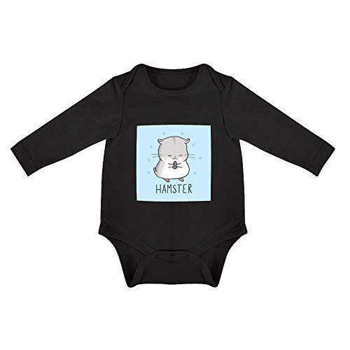 Abbigliamento per Bambini New Nati Illustrazione Criceto Adorabile Abbigliamento per Bambini Unisex - Bimbi 0-24 Mesi 6months