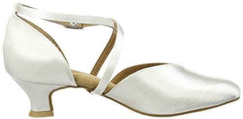 Diamant Brautschuhe Standard Tanzschuhe 107-013-092, Damen Tanzschuhe – Standard & Latein, Weiß (Weiß), 44 EU (9.5 Damen UK) - 2