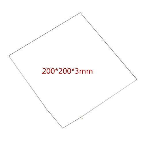 XBaofu 1pcs 200 * 200 * 3 mm de Vidrio borosilicato Tamaño de la Placa de Cristal en láminas for la Impresora 3D climatizada Cama