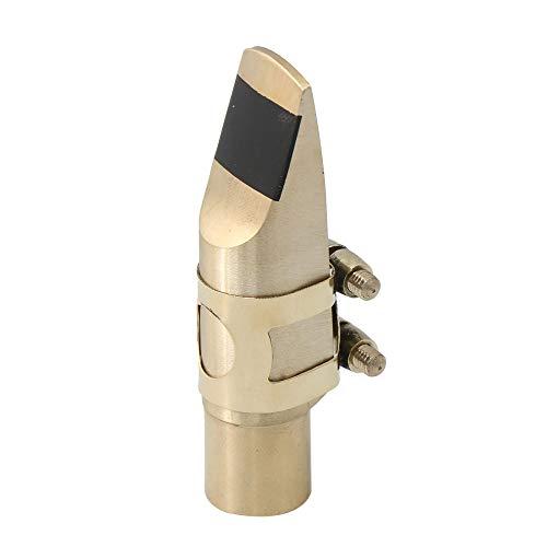 Yibuy Jazz E-flat in pelle PU 10.7x3.6cm//4.21x1.42Inch Golden 8# Bocchino per sassofono tenore LxW