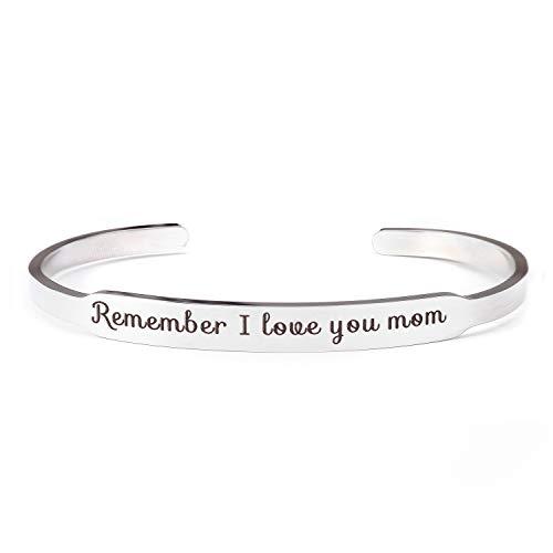 Recuerda que te amo mamá brazalete brazalete pulseras mamá regalo de hija hijo para el día de la madre