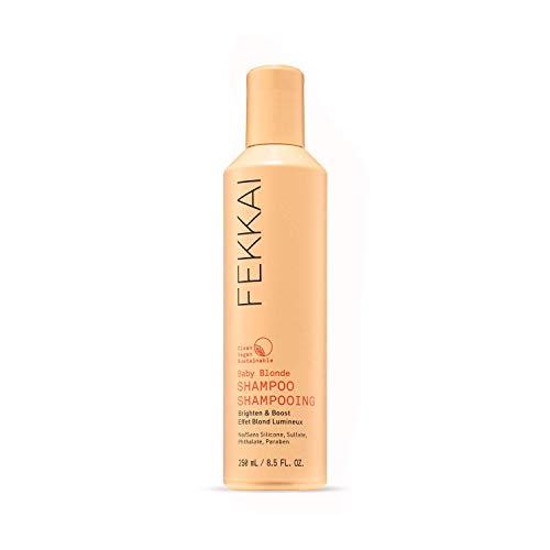 FEKKAI Baby Blonde Shampoo, Brighten and Boost, For Blonde Hair, Go Lighter & Brighter, Clean, Vegan, Sulfate Free, 8.5oz