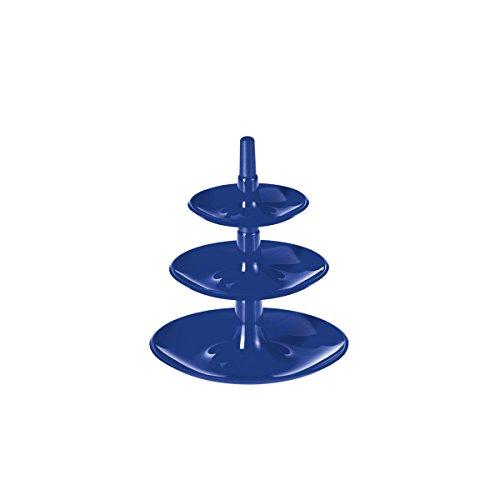 Koziol kleine Etagere Mini Babell solid Marine blau, ca. 14,4 cm hoch Tischdeko