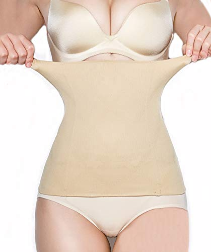 SURE YOU LIKE Damen Taille Trainer Cincher Korsett Tailenmieder Body Shape Bauchweg Gürtel, Beige, Tag M/L=SIZE EU(36-42)