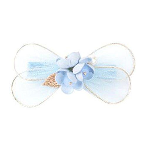 Mesdames Elegant bow-noeud Forme cheveux pinces Accessoires cheveux, bleu clair