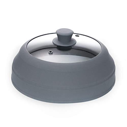 XUDONG Vidrio de gel de sílice microondas horno calefacción tapa contenedor de aceite resistente a altas temperaturas placa de salpicaduras de aceite fresco cubierta especial plato tapa para comidas
