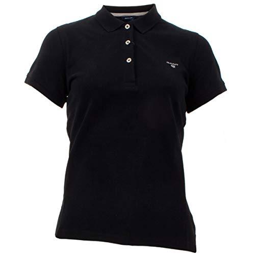 GANT Damen The Summer Pique Poloshirt, Schwarz (Black 5), Medium