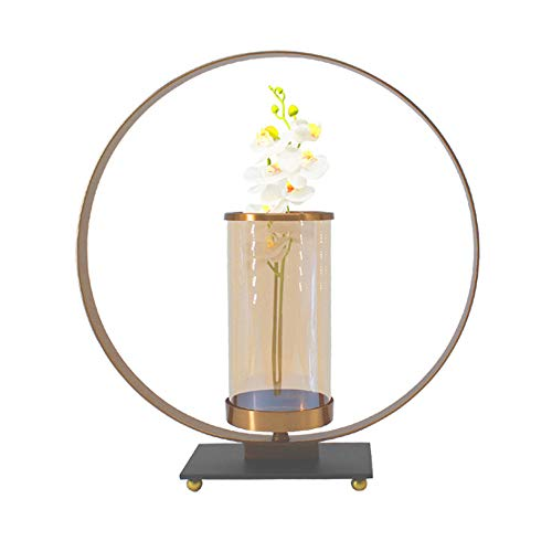ZHCSS Metal Round Candle Holder,Square Base Candle Holder, Used for Dining Table Coffee Table Decoration Candle Holder,Metallic,Small