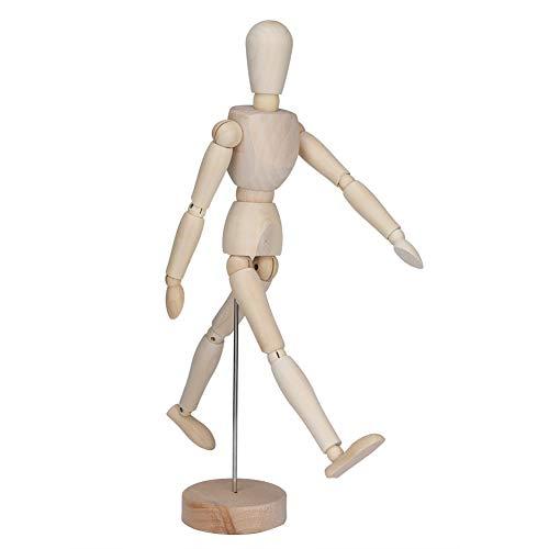 Ong Maniquí articulado, con Soporte Maniquí de Artista Ligero Multifuncional de 12,99 Pulgadas de Alto, Flexible para Dibujar bocetos