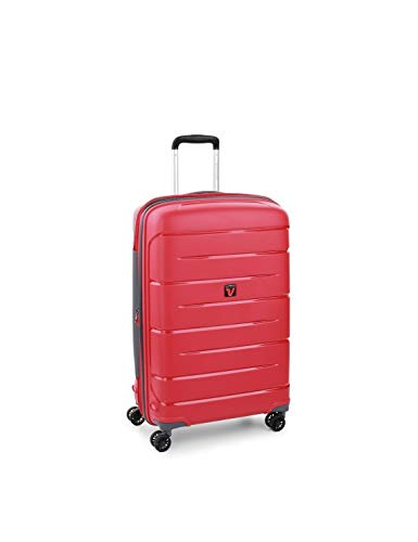 Roncato Flight DLX Trolley medio espandibile rigido 71 x 47 x 26-29 cm 4 ruote rosso scuro