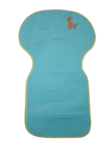 Bolin Bolon Assise universelle pour poussette - Broderie Girafe - En éponge - Bleu - 50 x 84cm