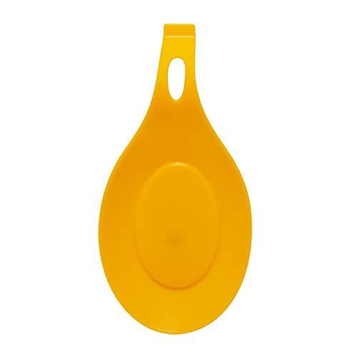 Manyao 1PCS Cuchara de Silicona Aislamiento de Silicona Almohadilla de Calor Almohadilla vajilla Cuchara Bandeja de Bebidas de Cocina Sub-Vidrio Accesorios for Herramientas (Color : Orange)