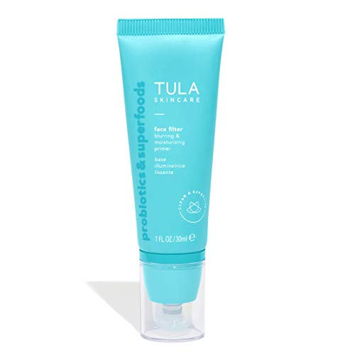 TULA Skin Care Face Filter Blurring and Moisturizing Primer | Smoothing Face Primer, Evens the Appearance of Skin Tone & Redness, Hydrates & Improves Makeup Wear | 1 fl. oz.