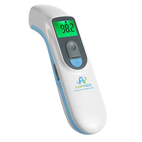Amplim Medical Grade Noncontact Digital Infrared Forehead Thermometer for Baby and Adult, 1701AE1,...