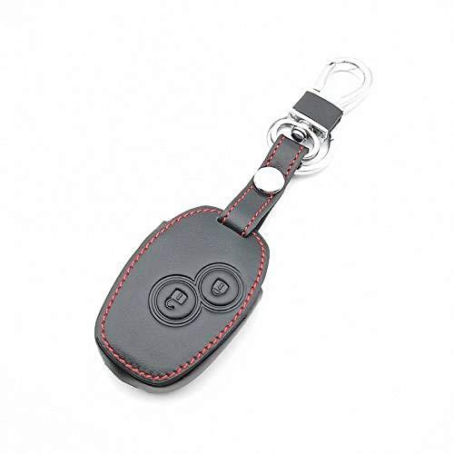 RWJFH Cubierta de la Caja de la Llave del Coche para Renault Dacia Sandero Captur Twingo Megane Scenic Kangoo Modus 2 Botones Carcasa Protectora, Negro