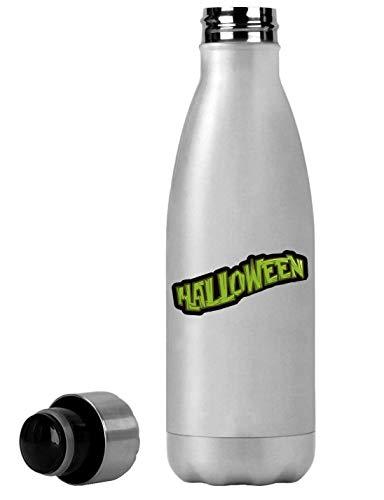 Atprints Halloween Green Logo Holiday Celebration Thermische Reiseflasche 350ml