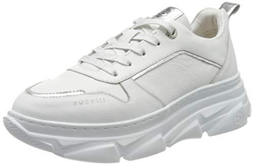 bugatti Damen 412844021049 Sneaker, Weiß (White/Silver 2013), 40 EU