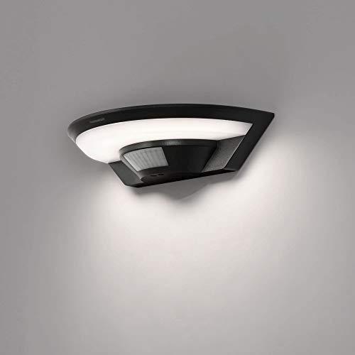 LED Aussenleuchte mit Bewegungsmelder Wand-leuchte Wandlampe Flurleuchte Fluter 10W schwarz modern IP54 SETA