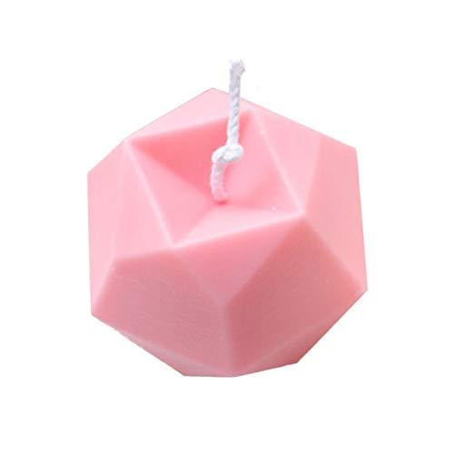 Seifenbasis 2 stücke 3D achtseitige diamant fand cube kerze silikonformen diy seife make form aromatherapie pflaster dekorieren form handgefertigte handwerk