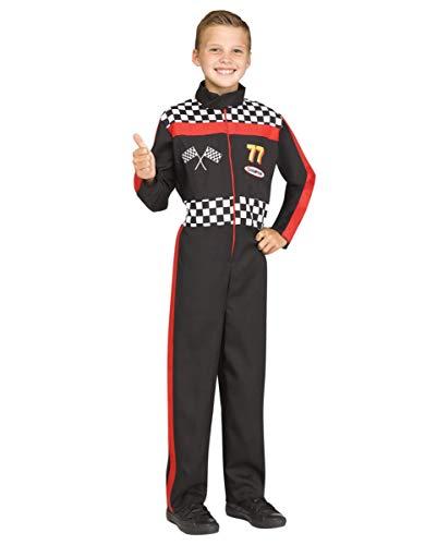 Horror-Shop Rennfahrer Kinderkostüm für den Straßenkarneval oder Fasching in Kindergarten & Schule L