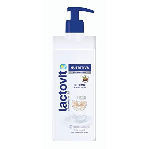 Lactovit - Leche Corporal Nutritiva con Protein Calcium y Manteca de Karité, para Pieles Normales y Secas - 400 ml