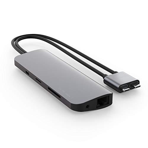 Hyper USB-C ハブ HyperDrive VIPER 10-in-2【 4K60Hz HDMI デュアルディスプレイ出力 / 60W Power Delivery 電源供給 / micro SD & SDカード スロット / Gigabit Ethernet ( LAN ) / USB-A 3.1×3 / マイク対応 3.5mm イヤホンジャック】HP-HD392GR【国内正規品】