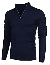 Mens zip jumpers are made from high quality and lightweight cotton poly material which makes you feel warm and comfortable all the time. Classic quarter zip up sweaters design in slim fit, polo collar, long sleeve, ribbed cuffs and hem. A zip jumper ...