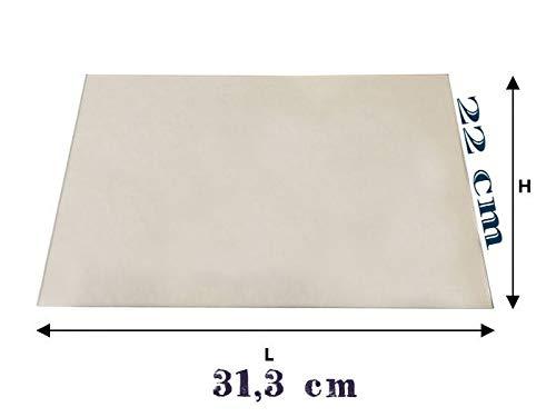 vetro ceramico (LA NORDICA, CUCINA ROSA) 31,3 cm x 22 cm, spessore 4mm