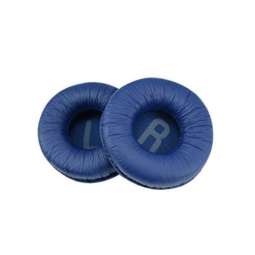 Geneic 1 par de almohadillas de espuma suave esponja cojín de reemplazo para J-B-L Tune600 T450 T450BT T500BT JR300BT auriculares 70mm almohadillas