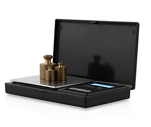 Orbegozo PC 3050 - Báscula de precisión, pantalla LCD, función tara, 100 g máx., escalado 0,01 g, superficie INOX, funciona a pilas