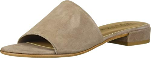 Bella Vita Women's TES-Italy Slide Sandal Shoe, Taupe Italian Suede Leather, 5.5 M US