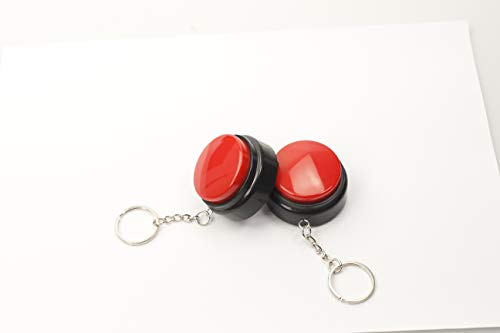 Neutral Recordable Talking Button with Keychain, 30s Voice Recording Time Sound Button Recording Your Own Words Set of 2
