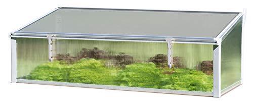 Juwel Thermo Frühbeet 130/60 (Aufsatz für Timber Hochbeete, Fenster mit Windsicherung, einfache Montage, Hohlkammerplatten 4 mm, Wärmeisolierung) 20342