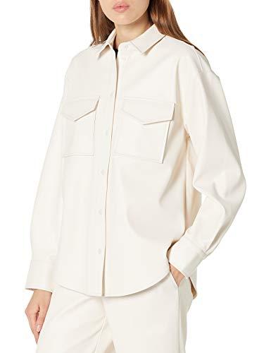 The Drop, Giacca da Donna, Lunga Stile Camicia in Similpelle, di @lisadnyc