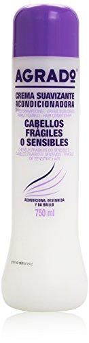 Agrado - Crema suavizante acondicionadora, cabellos fragiles o sensibles, 750 ml
