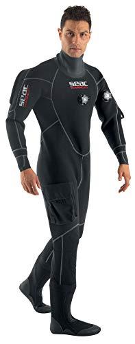 SEAC Men's Warmdry 4mm Neoprene Dry Suit, Black, Large (Model: 0060001009080A)
