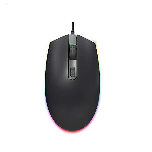 Verdelife Mouse para Juegos, Mouse con Cable Mouse con Luz Led, Carpa de Luz Colorida, Adecuada para Windows 7/8/2000 / Xp / Vista Mac Os para Pc, Laptop, Oficina en Casa