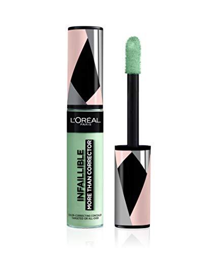 L'Oréal Paris Infaillible More Than Corrector 01 Green, korrigiert & neutralisiert Rötungen, Pickel & Sonnenbrand, 1 Stück