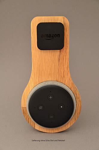 Halterung Echo Dot Gen 3 aus EICHE | Echo Dot 3. Generation | Halter | Wandhalterung | Ständer | Alexa | Holz | Smart Home