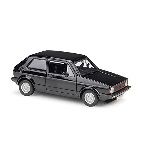 Juguetes Coches 1:24 para Volk-swagen para Golf Mk1 GTI 1979 Aleación Modelo De Coche Simulación De Fundición A Presión Vehículo Juguete Regalos De Recuerdo (Color : Negro)