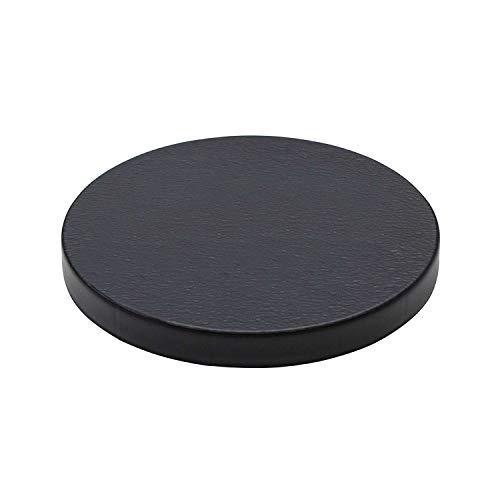 Prosperplast Mobile platform round Plataforma movil para macetas plastico redonda con 4 ruedas 39 x 39 x 4,5 cm en color antracita, Grande