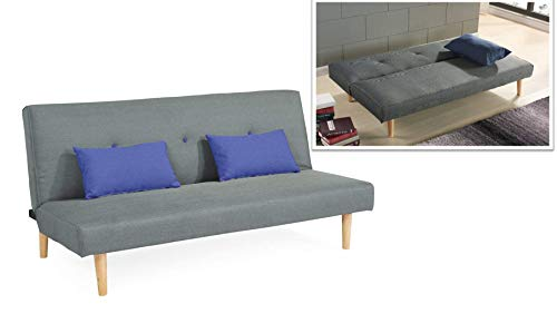 EBS Schlafsofa Sofabett 3 Sitzer Couch (Grau, 180 x 107 cm)